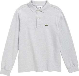 Lacoste Solid Long Sleeve Polo