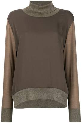 Fabiana Filippi contrast turtle-neck sweater
