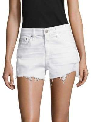 AG Jeans Women's Bryn Ex-Boyfriend Cut-Off Shorts - White - Size 28 (4-6)