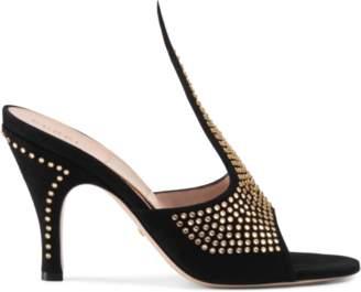 5f488808e Gucci Black Suede Women's Sandals - ShopStyle