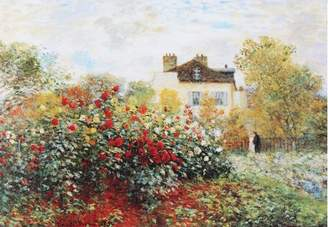 Three Posts 'Garden' by Claude Monet Graphic Art on Wrapped Canvas