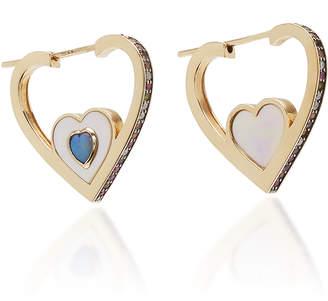 Noor Fares Anahata Heart Hoop Diamond Earrings
