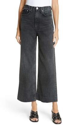 Rag & Bone Haru Wide Leg High Waist Nonstretch Cotton Jeans