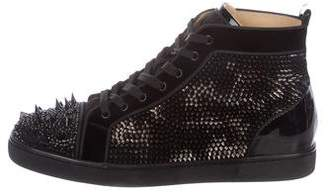 Christian Louboutin Louis Strass Spikes Sneakers