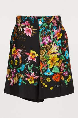 Gucci Flora silk shorts