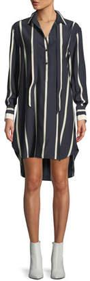 Rag & Bone Arc Striped Silk Tunic