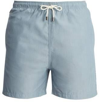 Solid & Striped Classic Swim Shorts - Mens - Blue