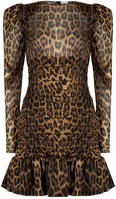 Magda Butrym Borneo Leopard Print Dress