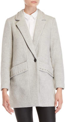 BCBGeneration Studded Trim One-Button Coat