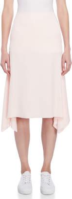 Cédric Charlier Pink Sharkbite A-Line Skirt