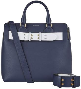 Burberry Blue Leather Tote Bags - ShopStyle 41a7c2cef786c