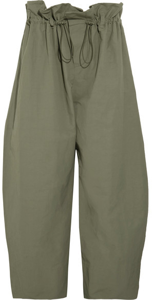 Stella McCartneyStella McCartney - Twill Wide-leg Pants - Army green