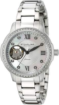 Stuhrling Original Women's 491.01 Perle 491 Silver/Silver Stainless Steel Watch
