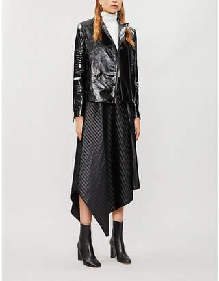 J Brand Fashion Aimee patent leather jacket