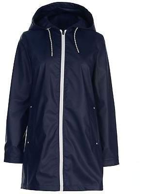 Miso Womens Raincoat Rain Jacket Coat Top Long Sleeve Water Resistant
