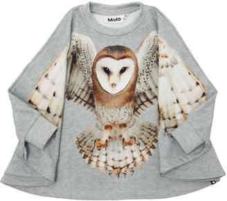 Molo Printed Cotton Sweatshirt Cape