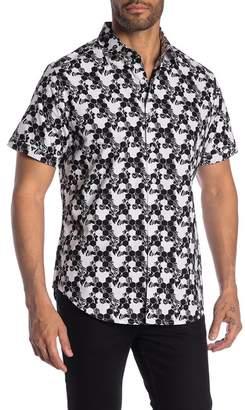 Robert Graham Hexagon Havoc Patterned Short Sleeve Classic Fit Shirt