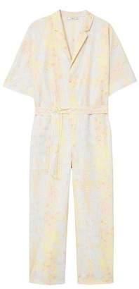 MANGO Printed organic cotton jumpsuit