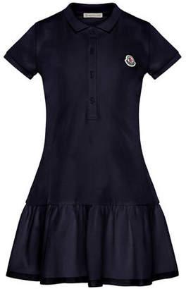 Moncler Short-Sleeve Polo Dress, Size 4-6