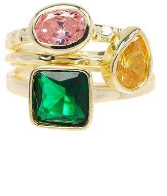 Mistraya Jewelry Alisse Multicolor CZ Stack Rings