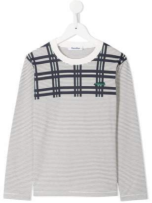 Familiar car embroidered striped top