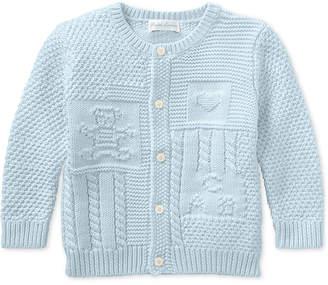 Polo Ralph Lauren Ralph Lauren Baby Boys Contrast-Knit Cotton Cardigan