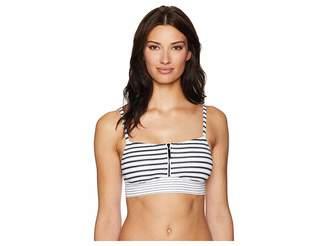 Lauren Ralph Lauren Harrison Stripes Over The Shoulder Bralette Top