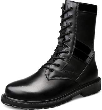 Nobrand NO-BRAND Army Boots with Plush Inner for Men Tool Boots Winter Snow Boots Mid-Calf Boots