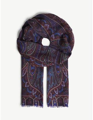 Etro Paisley print cashmere scarf