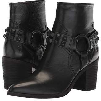 Frye Flynn Deco Stud Harness Short Women's Pull-on Boots