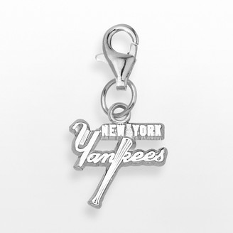 New York Yankees Logoart LogoArt Sterling Silver Logo Charm
