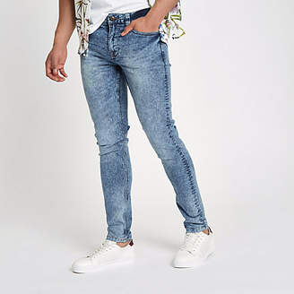 River Island Only and Sons mid blue skinny jeans