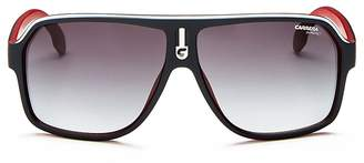 Carrera Oversized Flat Top Aviator Sunglasses, 65mm
