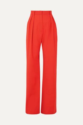 MATÉRIEL Wool-blend Wide-leg Pants - Red