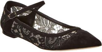Dolce & Gabbana Belluci Suede & Lace Ballet Flat