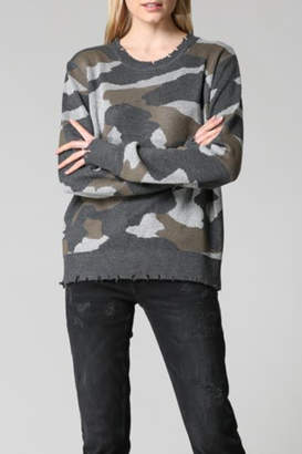 Fate Distressed Camo sweater