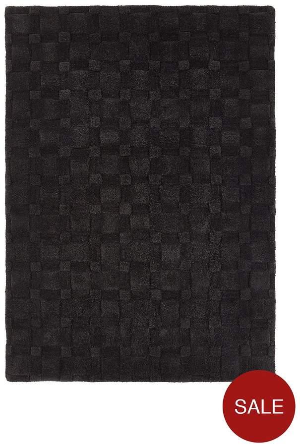 3D Basketweave Wool Rug