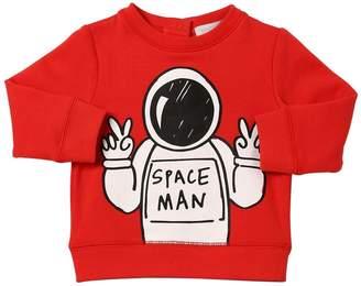 Stella McCartney Space Man Printed Cotton Sweatshirt