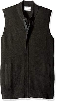 Calvin Klein Men's Merino Full Zip Vest