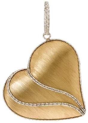 Arte D'oro Arte d' Oro Two-tone Satin & Diamond-Cut HeartPendant, 18K