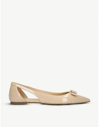 MICHAEL Michael Kors Carlson cut-out patent-leather ballerina flats