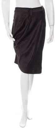 Matthew Williamson Draped Satin Skirt w/ Tags