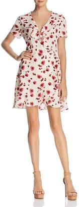 Lucy Paris Poppy Floral Print Wrap Dress