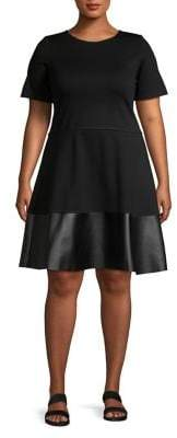 Design Lab Plus Short-Sleeve Teacup Dress
