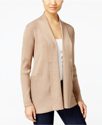 JM Collection Ribbed Open-Front Cardigan, Only at Macy's $59.50 thestylecure.com