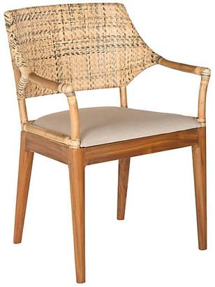 One Kings Lane Lorelei Armchair - Honey/Natural