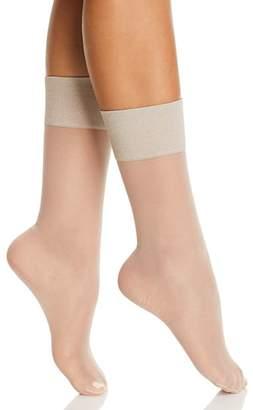 Hue Metallic Band Sheer Anklet Socks