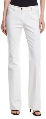 Michael Kors Mid-Rise Flared Stretch-Cotton Pants