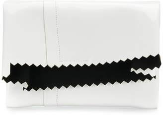 MM6 MAISON MARGIELA zigzag-trim foldover clutch bag