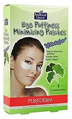 Gingko International Purederm Botanical Choice Eye Puffiness minimizing Patches 6 Treatments